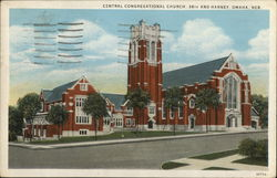 Central Congregational Church, 36th and Harney Omaha, NE Postcard