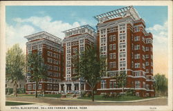 Hotel Blackstone, 36th and Farnam Omaha, NE Postcard