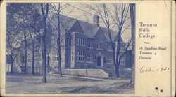 Bible College, 16 Spadina Road