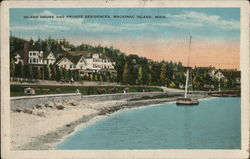 Island House and Private Residences Postcard