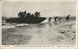 Construction Battalions Practice Landings, Camp Peary