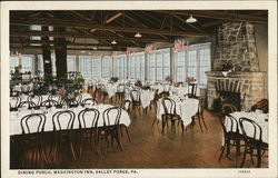 Dining Porch, Washington Inn Postcard
