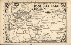 Map of the Rangeley Lakes Region