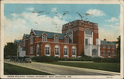 Union Building, Purdue University Postcard