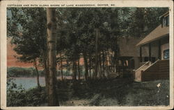 Cottages and Path Along Shore of Lake Wassookeag