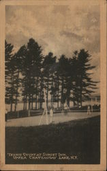 Tennis Court at Sunset Inn, Upper Chateaugay Lake
