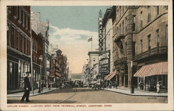 Asylum Street, Looking West from Trumbull Street