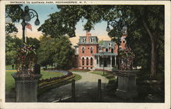 Entrance to Eastman Park Postcard
