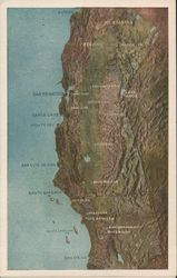 Topographical Map of Northern California