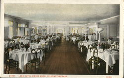 Lake Hotel Dining Room, Yellowstone Park