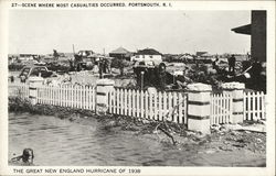 1938 Hurricane Scene Where Most Casualties Occurred