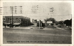 Entrance, East Bay Auto Camp, 48th and San Pablo Ave. Postcard