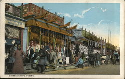 Chinese Shops Postcard
