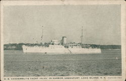 "W.K. Vanderbilt's Yacht ""Alva"" in Harbor, Greenport"