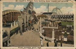 Scene in Paragon Park, Showing Roller Coaster and Witching