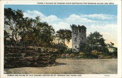 Tower and Ruins of Old Panama Destroyed by Morgan