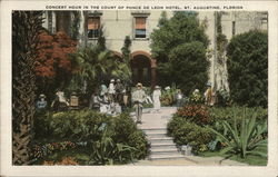 Concert Hour in the Court of Ponce De Leon Hotel