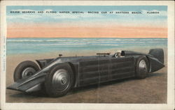 Major Redgrave and Flying Napier Special Racing Car Postcard