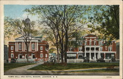 Town Hall and Hotel Rogers Postcard