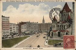 Copley Square, Boston University, College of Administration Building in Foreground