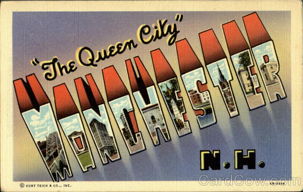 The Queen City Manchester New Hampshire Large Letter