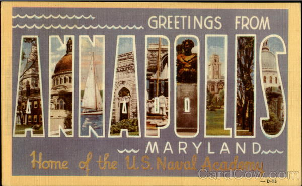 Greetings From Annapolis Maryland Large Letter