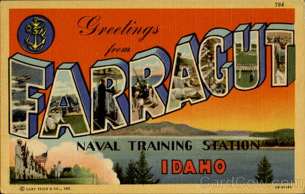 Greetings From Farragut Idaho Large Letter