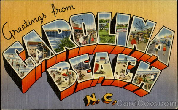 Greetings From Carolina Beach North Carolina Large Letter
