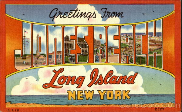 Greetings From Jones Beach Long Island New York Large Letter