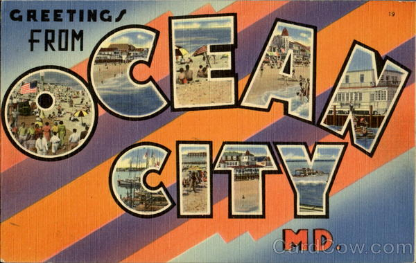 Greetings From Ocean City Maryland Large Letter