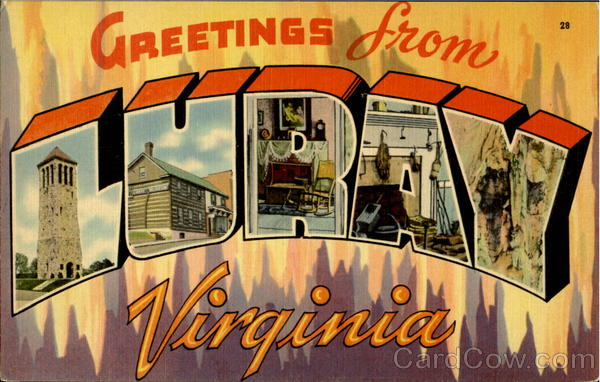 Greetings From Luray Virginia Large Letter