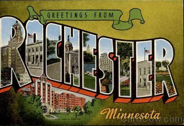 Greetings From Rochester Minnesota Large Letter