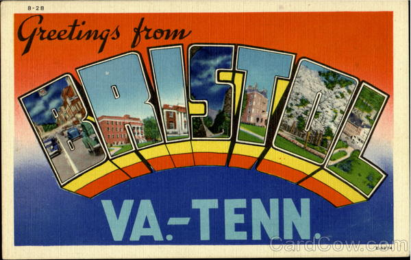 Greetings From Bristol Virginia Large Letter