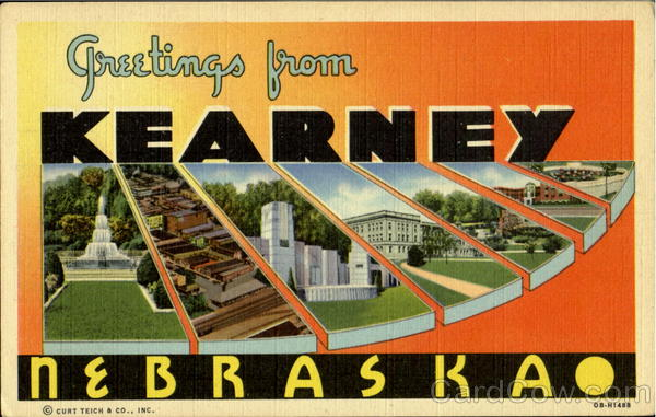 Greetings From Kearney Nebraska Large Letter