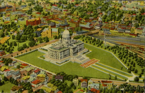 State Capitol From The Air Providence Rhode Island
