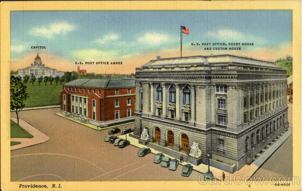 U. S. Post Office Court House And Custom House Providence Rhode Island