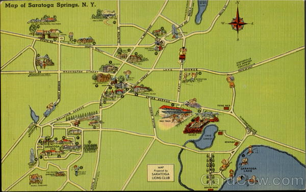 Map Of Saratoga Springs New York Maps