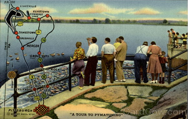 A Tour To Pymatuning Dam Linesville Pennsylvania Maps