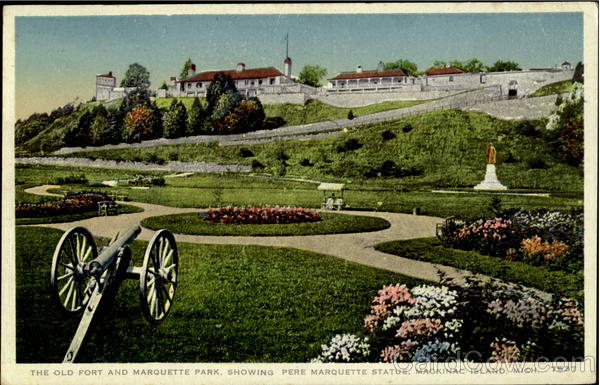 The Old Fort And Marquette Park Mackinac Island Michigan