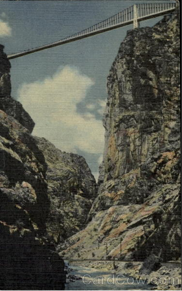 Scene In The Bottom Of The Royal Gorge Colorado