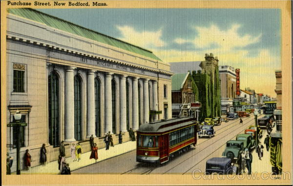 Purchase Street New Bedford Massachusetts Trolleys