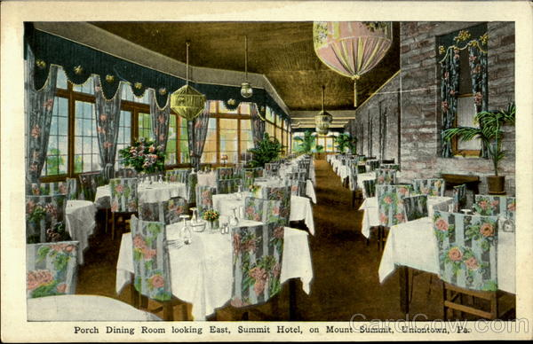 Porch Dining Room Looking East Summit Hotel Uniontown Pennsylvania