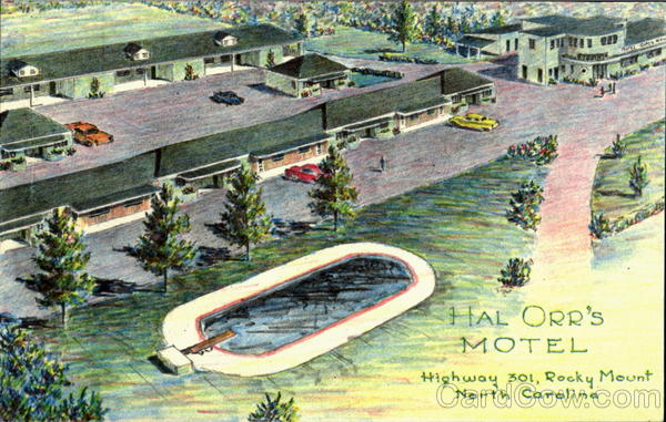 Hal Orr's Motel Rock Mount North Carolina