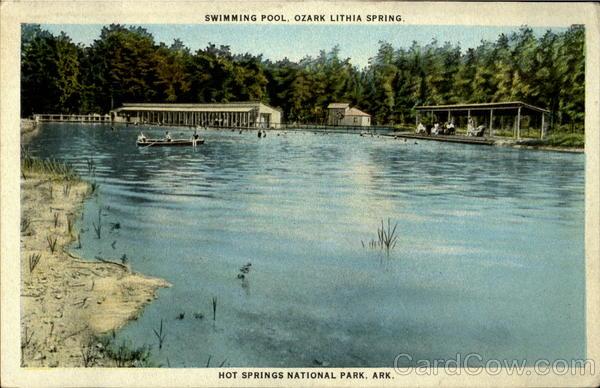 Swimming Pool Hot Springs National Park Camp Ozark Lithia Ar