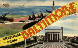 Greetings From Baltimore Postcard