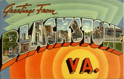 Greetings From Blackstone Postcard