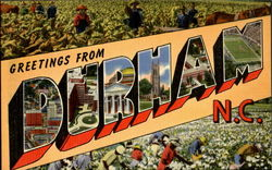 Greetings From Durham Postcard