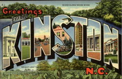 Greetings From Kinston Postcard