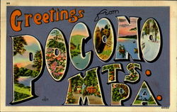 Greetings From Pocono Mts Postcard