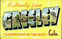 A Howdy From Greeley Postcard